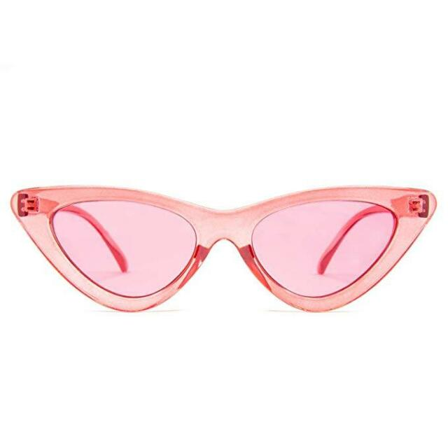 GloFX Cat Eye Color Therapy Glasses - Rose - Chakra Mood Enhancing Colored Lens
