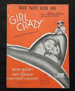 1943-Judy-Garland-amp-Mickey-Rooney-in-034-Girl-Crazy-034-But-Not-For-Me-MGM-SHEET-MUSIC