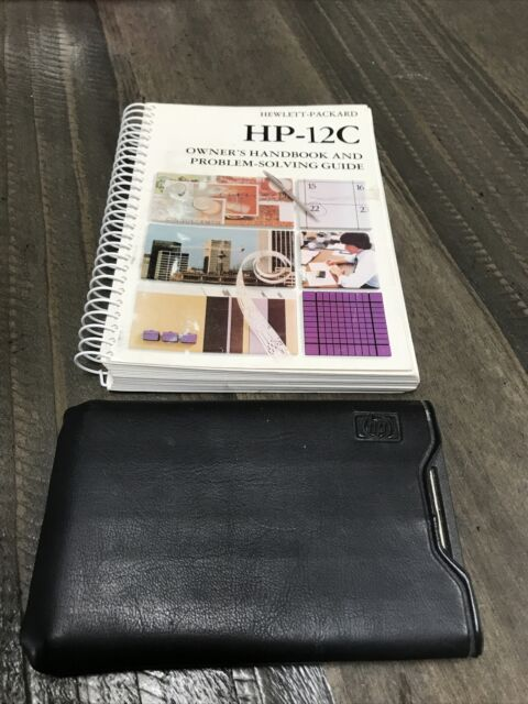 Hewlett Packard HP12C Financial Calculator with Case and Manual