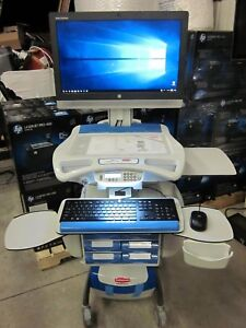 New Rubbermaid Healthcare Mobile Pc Workstation 8 Drawer