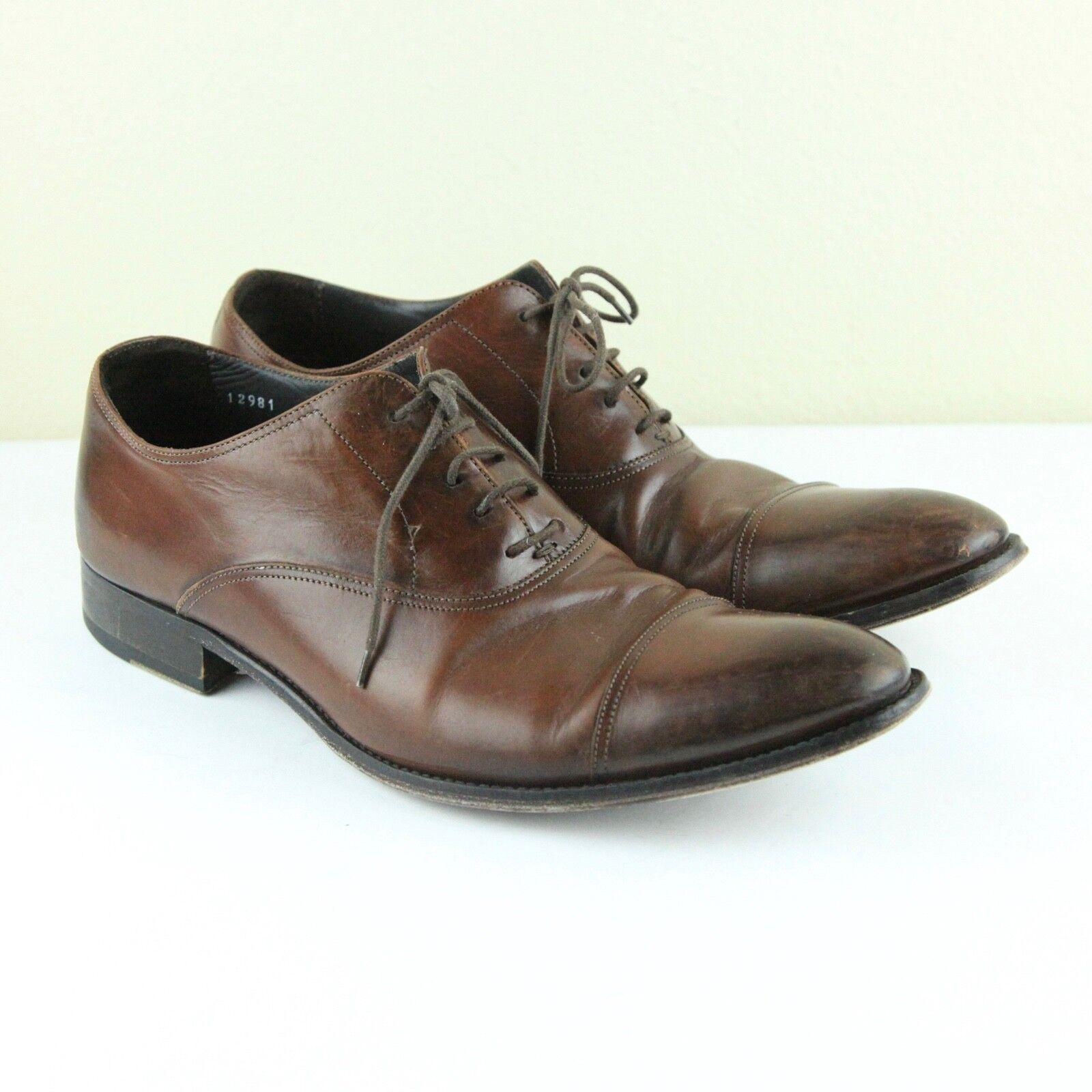 comprare a buon mercato To avvio New New New York Brandon Cap Toe Oxford 9 1 2 Cognac Marrone Leather scarpe Lace Up  negozi al dettaglio