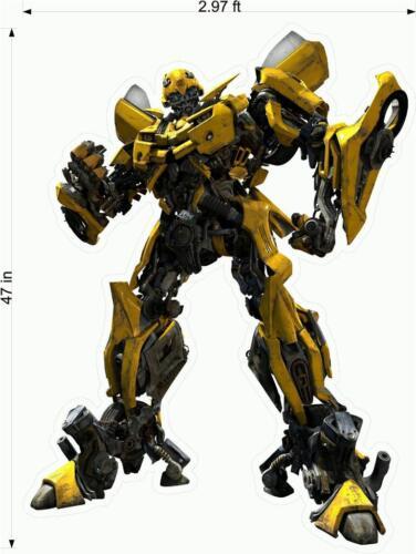 Transformers 3 Bumblebee WALL Fathead Autocollants Decal 4 ft Tall Idées Cadeau environ 1.22 m