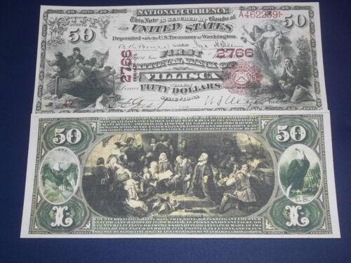 RARE HISTROIC STUNNING 7 1875 UNC U.S BANKNOTE SET COPY!