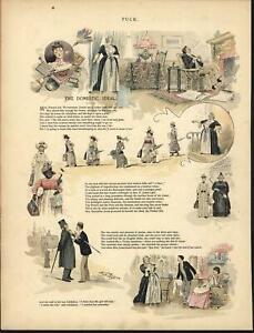 Domestic-Ideal-black-Servant-household-1891-antique-color-lithograph-print