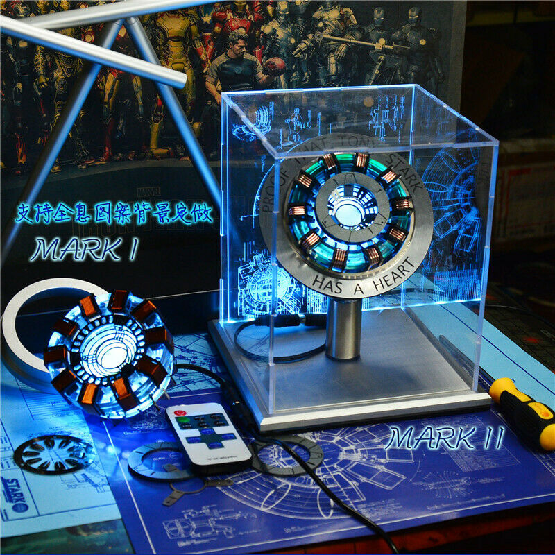 Iron Man Arc Reactor Core Chest Light Display Cover Remote Control Full Suit COS