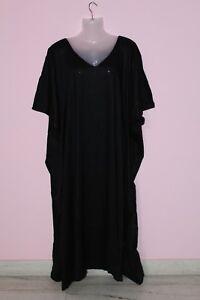 d387e0c2b40 Women S Long Solid Black Kaftan Tunic Plus Size Maxi Gown Caftan ...