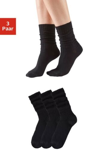 3 Paar Schoppersocken-Socken-GO IN-schwarz /%SALE/% NEU!!