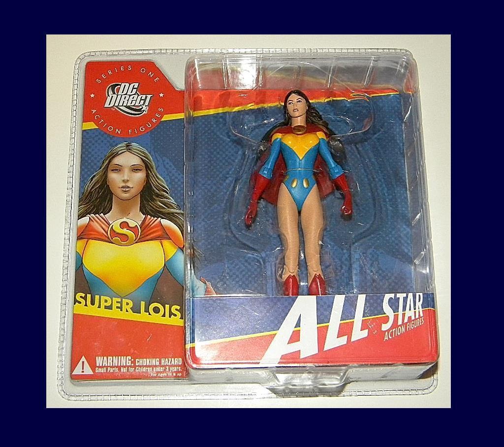 DC directo All Estrella súper Lois menta en tarjeta rara figura de acción de DC COMICS