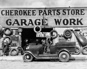 Vintage-1936-Garage-Photo-Automobile-Parts-Store-Old-Work-Truck-Atlanta-Georgia