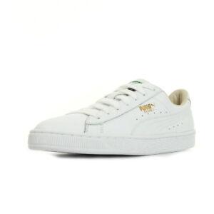 design de qualité 9d930 23481 Détails sur Chaussures Baskets Puma unisexe Basket Classic LFS taille Blanc  Blanche Cuir