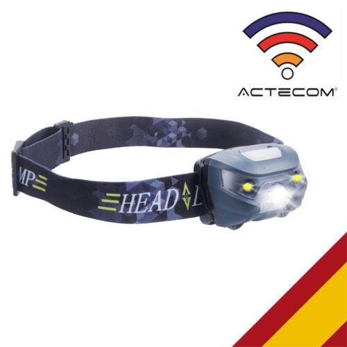FOCO Luz Frontal CABEZA 300LM 4-Modo R3+2 LED LINTERNA MONTAÑA RUNNING DEPORTE