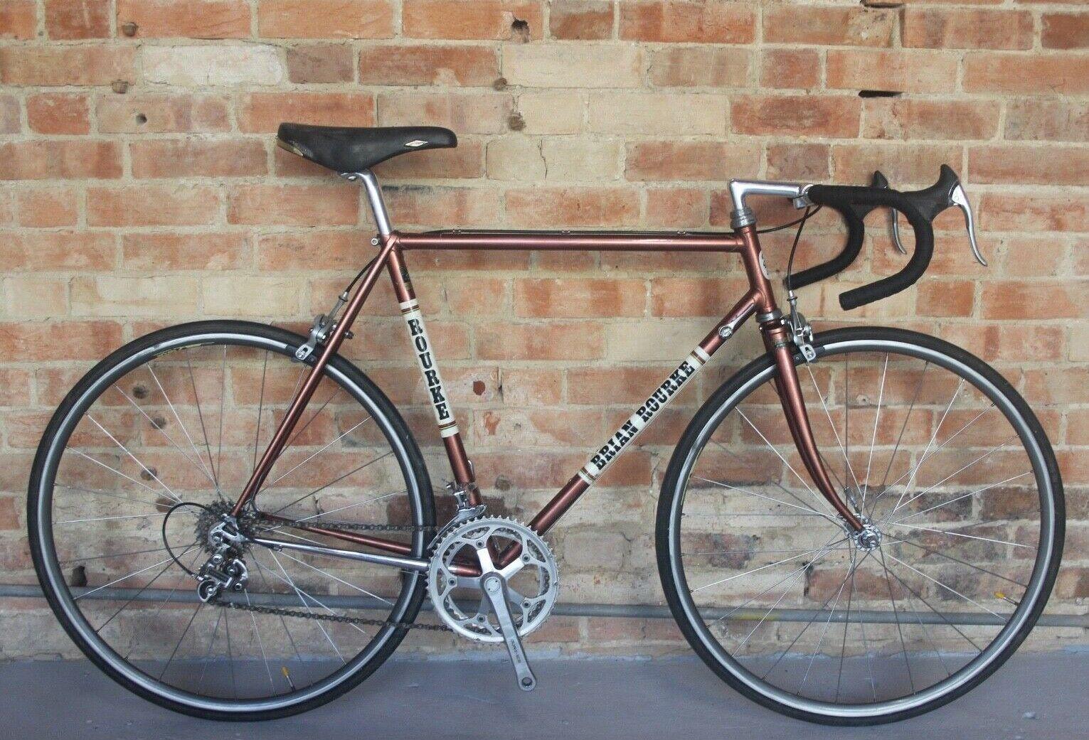Vintage Brian Rourke 56cm Road Bike Reynolds 531 Shimano Dura Ace Retro Eroica