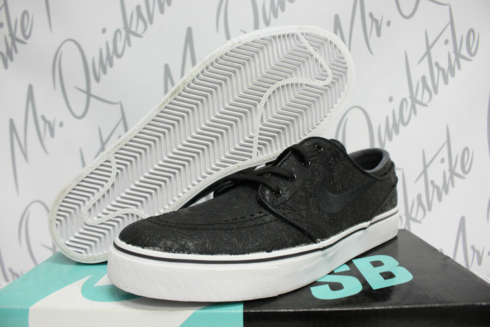 NIKE SB ZOOM STEFAN JANOSKI ELITE SZ 10 BLACK WHITE EMBOSSED 725074 003