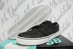 8dec71464abe NIKE SB ZOOM STEFAN JANOSKI ELITE SZ 8 BLACK WHITE EMBOSSED 725074 ...