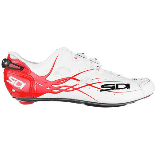 New SIDI SHOT Carbon Road Bike Cycling shoes White Red EU40-46