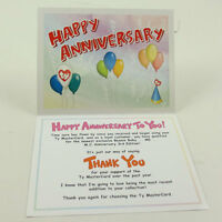 Ty Beanie Baby Thank You Letter Card For Mc Anniversary Bear 3 (card Only)