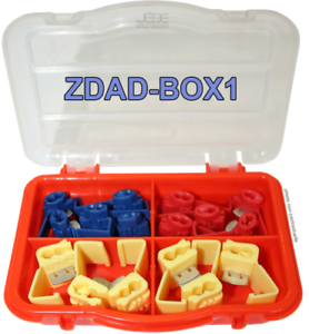 ZDAD-BOX1 Boite d/'assortiment de 16 connecteurs auto-dénudant