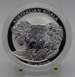 2014 P Koala Australia $1 .999 Silver 1 oz Coin in Capsule