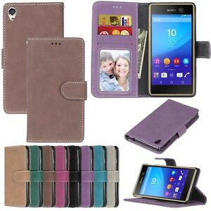 For-Motorola-Sony-Series-Phones-Wallet-ID-Card-Matte-Leather-Case-Cover-TPU-DK