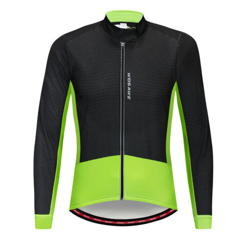 Men Winter Fleece Thermal Cycling Jacket Windproof Bicycle Coat Warm Jersey Tops