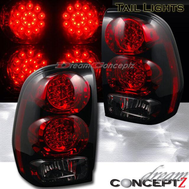 2002-2009 Chevrolet Trailblazer LED Tail lights Red Lens & Smoke on reverse lens