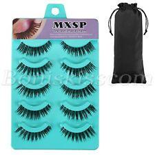 5 Pairs Handmade Natural Soft Makeup Eye Lashes Thick Fake False Eyelashes Set