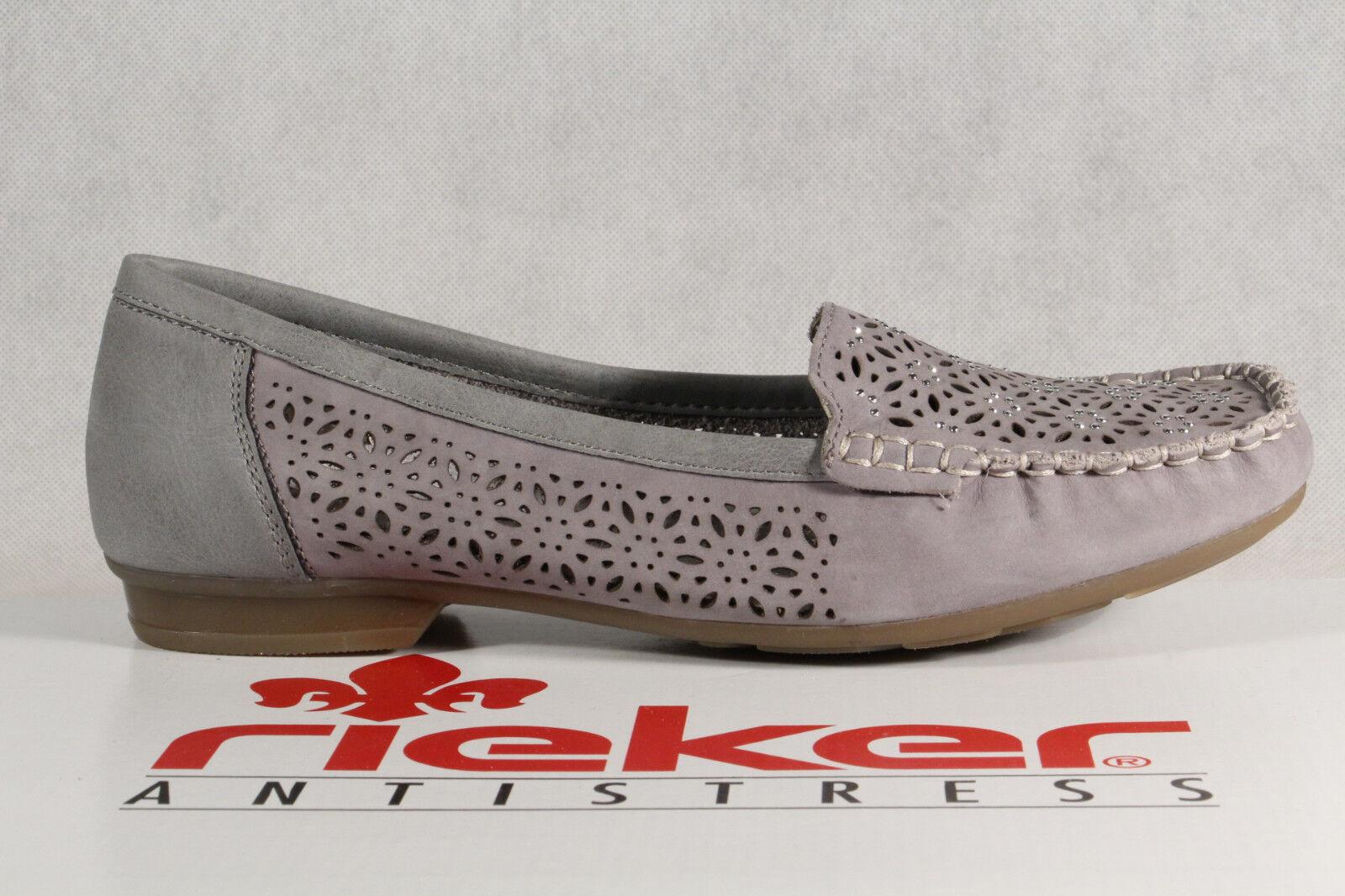 Rieker Slipper Sneakers 40075 Halbschuhe Sportschuhe Ballerina grau 40075 Sneakers   NEU 949c65