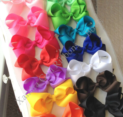 "10-5/"" Big Hair Bows Boutique Girls Baby Toddler Grosgrain Ribbon Alligatorclip"