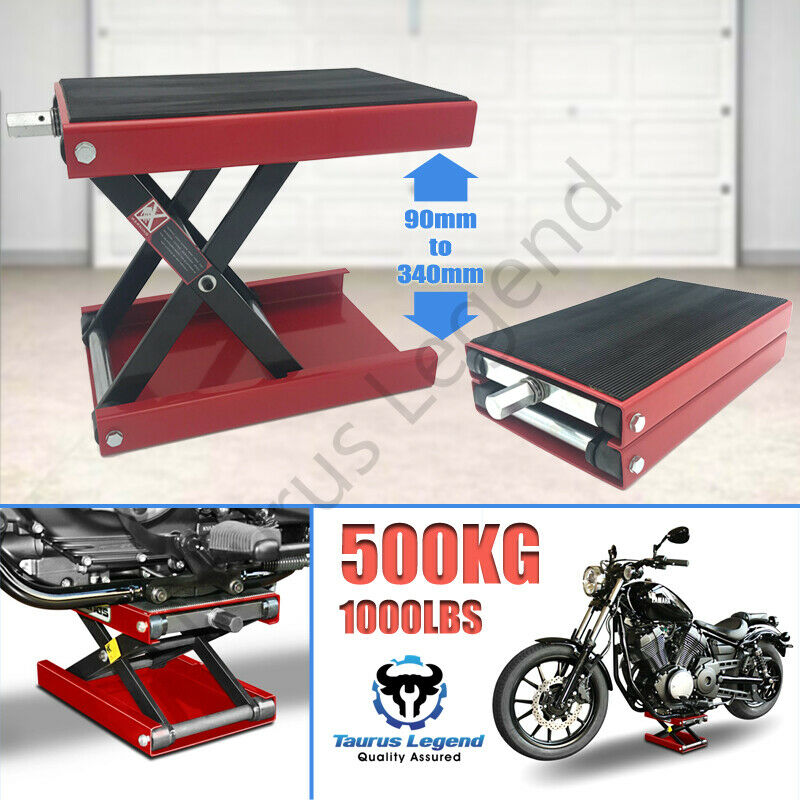 1100 LB Mini Scissor Lift Jack ATV Motorcycle Dirt Bike Scooter Crank Stand NEW