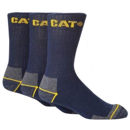 3,6 Pairs CAT Caterpillar Crew Work Socks Sizes 6-11 /& 11-14 Multibuy Savings