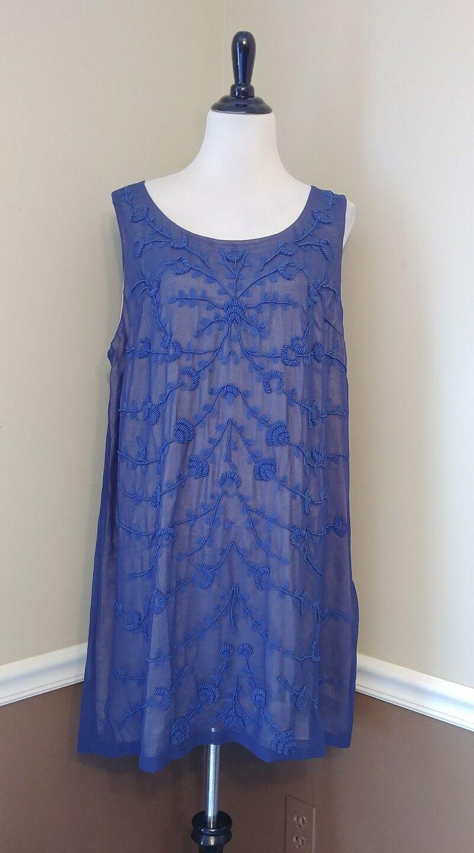 NEW Modcloth Mini Dress XXL Blau Beaded Shift Cocktail Known Intricately