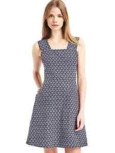 Gap Linen Fit And Flare Dress Nwt Sz 14 True Black 1131a4