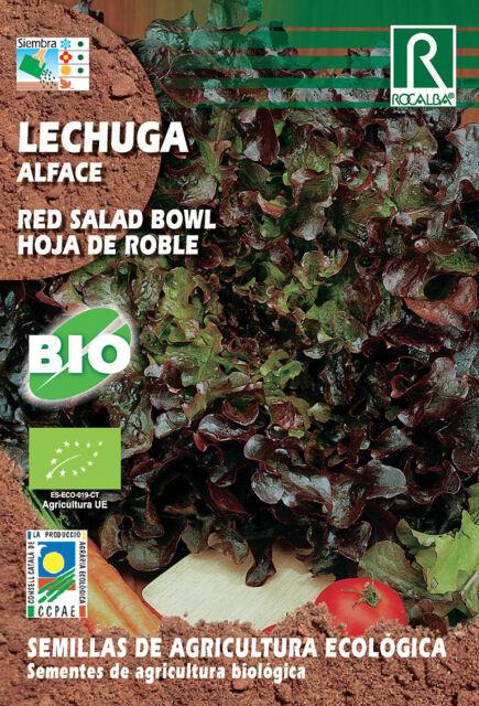 Semillas ECOLOGICAS Lechuga Red Salad Hoja de Roble , Sobre 4 gr.