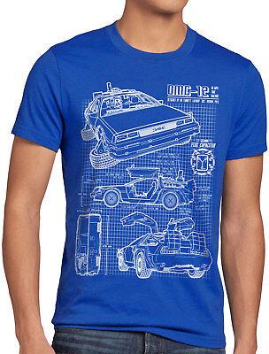 Delorean DMC-12 T-Shirt Damen zurück zukunft in die to the future back bluray
