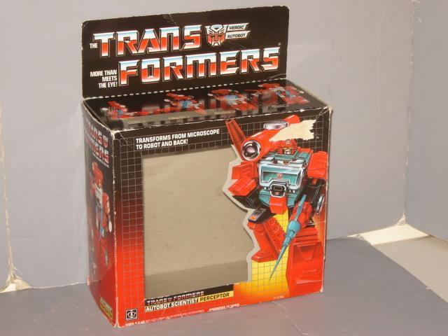 G1 TRANSFORMER AUTOBOT PERCEPTOR EMPTY BOX  LOT   2