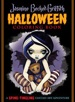 Jasmine Becket-griffith Halloween Coloring Book Fantasy Art 8.5 X 11 96 Pg