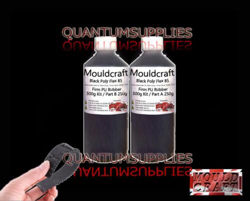 Mouldcraft Black Poly Flex 85 Shore Fast Cure 500g Polyurethane Casting Rubber