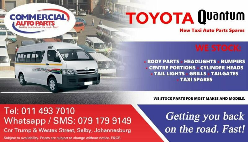 Toyota Quantum Sesfikile Parts and Spares For Sale.