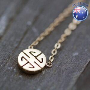 Women-039-s-18K-Rose-Gold-Filled-Antique-Style-Cute-Greek-Vintage-Pendant-Necklace