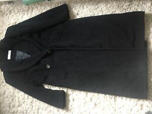 Wol Huberman Black Calf maat kasjmier Length jas 12 Harrods For Vintage wpxYtRBnn