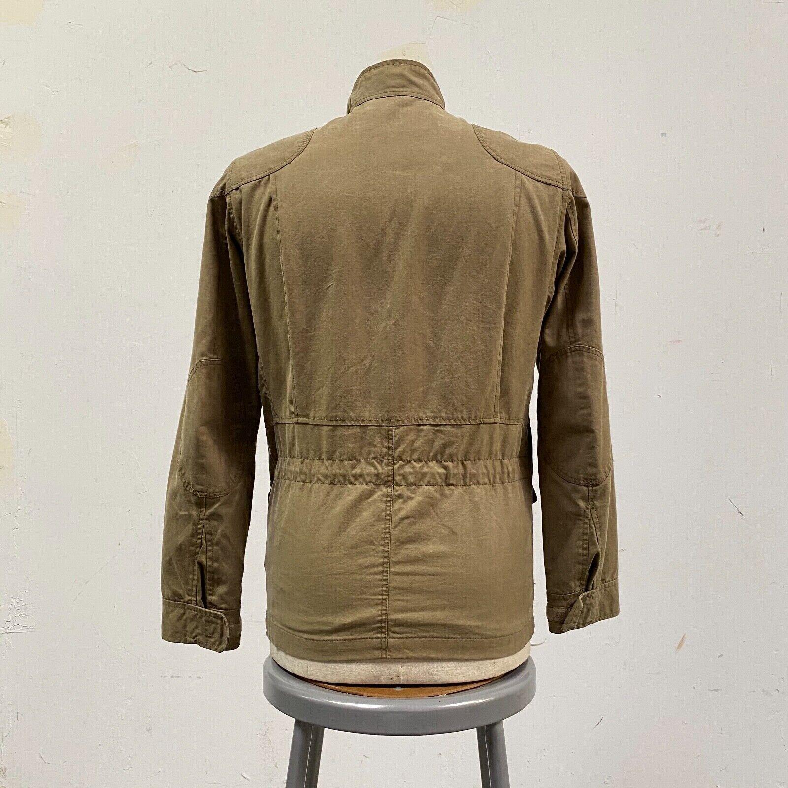 J.Crew Field Jacket Size XS Brown Wax Distressed - image 4