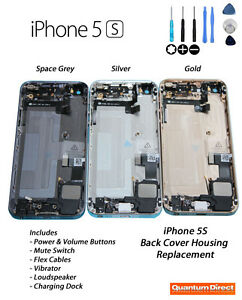 iPhone-5S-Back-Cover-Housing-Inc-Power-Mute-Volume-Switch-Vibrator-SPACE-GREY