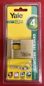 Yale-60mm-Armoured-Brass-Padlock-with-Hardened-Steel-Shackle