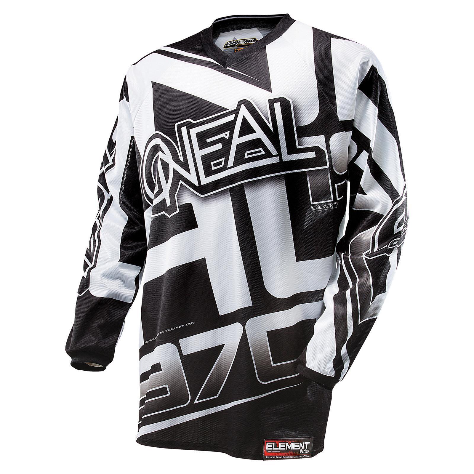 ONeal Moto Cross Jersey RACEWEAR black MX Motorrad Enduro MTB Fahrrad Shirt DH