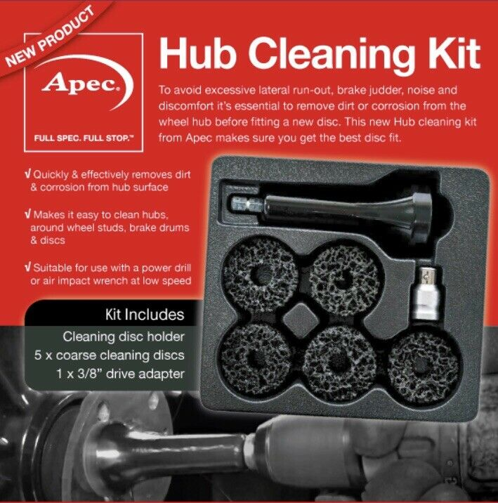 Apec Wheel Hub Cleaning & Resurfacing Tool Kit