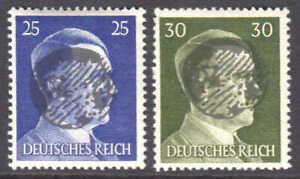 GERMANY 518-519 LOCAL SCHWÄRZUNGEN WEHLEN C OVERPRINT OG NH U/M F/VF