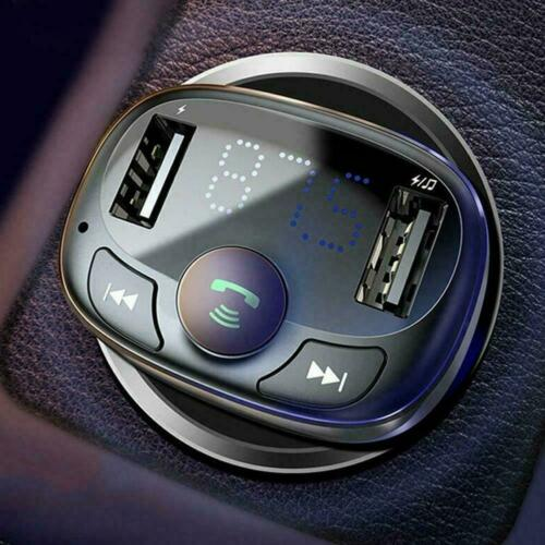 Wireless Bluetooth Car FM Transmitter MP3 Player 2 Handsfree Charger USB S3Y9