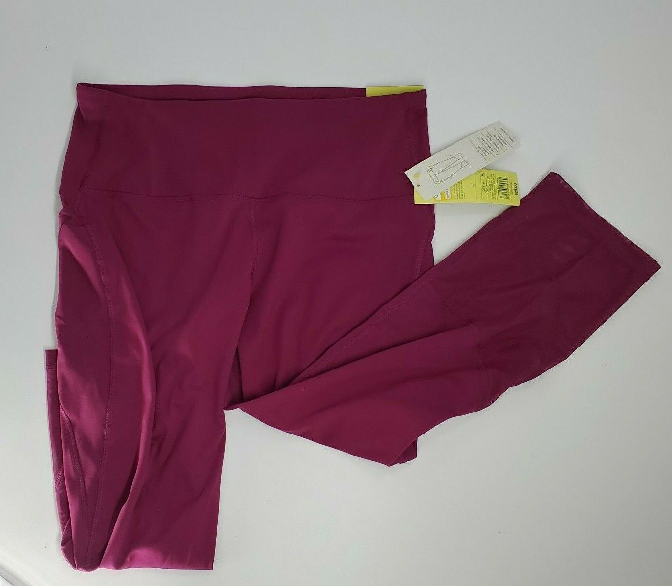 All In Motion Women's Contour Curvy High-waisted Capri Leggings Purple Size S