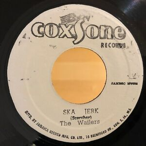 Reggae-45-THE-WAILERS-Ska-Jerk-I-039-m-Still-Waiting-COXSONE-VG-VG-Jamaica
