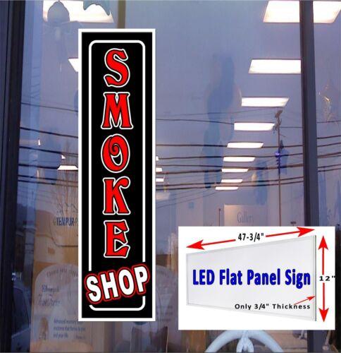"""Smoke Shop 48/""""x12/"""" Led illuminated Window Sign flat panel led design"""